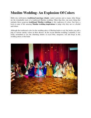 Muslim Wedding Tradition!