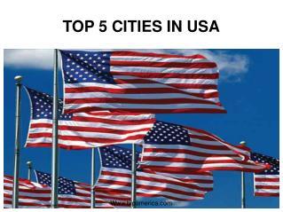 top 5 cities of USA