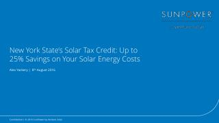 New York State's Solar Tax Credit: Up to 25% Savings on Your Solar Energy Costs