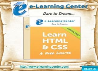 Online HTML Course - e-learningcenter.com