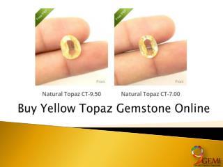 Buy Yellow Topaz Gemstone Online