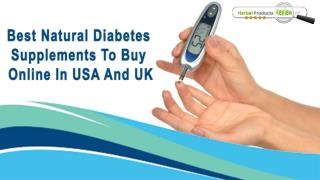 Best Natural Diabetes Supplements To Buy Online In USA And UK