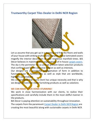 Carpets Manufacturers & Suppliers In Delhi NCR