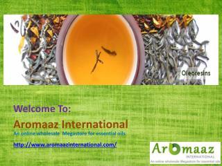 Online Spice Oleoresins Suppliers @ Aromaazinternational.com