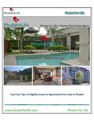 Apartments for sale in Phuket