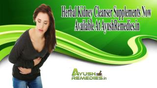 Herbal Kidney Cleanser Supplements Now Available At AyurvedResearchFoundation.in