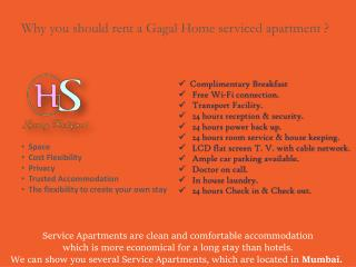 Why you should rent a Gagal Home serviced apartment