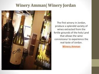 Winery Amman| Winery Jordan