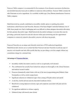 Neurocet- Read Fact & Reviews! Get Free trial