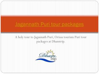 Puri tour package - Jagannath Puri Tour Packages