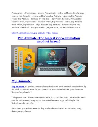 Pop Animate Review-$32,400 bonus & discount