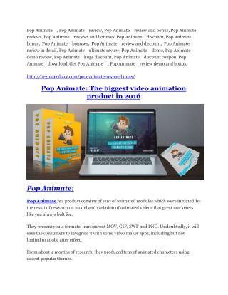Pop Animate Review-$32,400 bonus & discount