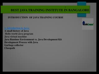 Avanced java training in banaglore
