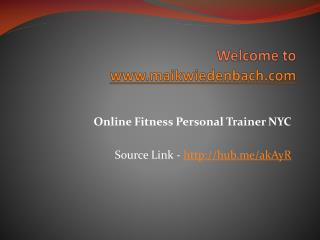 Online Fitness Personal Trainer NYC