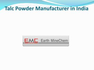 Talc Powder Manufacturer in India