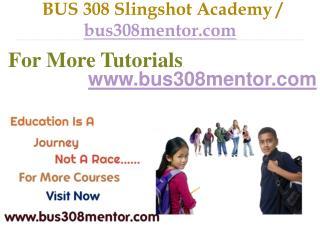 BUS 308 Slingshot Academy / bus308mentor.com