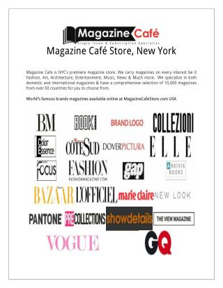 International Magazine café store, New York