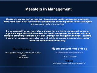 Interim opdrachten | Meesters in Management