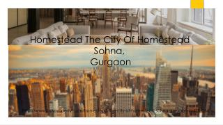 Homestead The City Of Homestead in Sohna, Gurgaon - BuyProperty