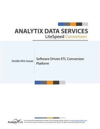 Analytix Litespeed Conversion Datasheet