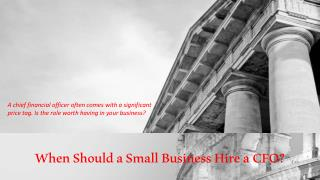 When Should a Small Business Hire a CFO