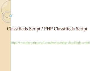 Classifieds Script, PHP Classifieds Script