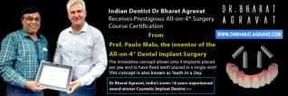 Indian Dentist Bharat Agravat Received Prestigious All-on-4® Dental Implants Certificate from the Inventor of All-on-4®