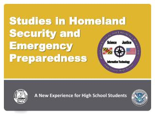 Studies in Homeland Security and  Emergency  Preparedness