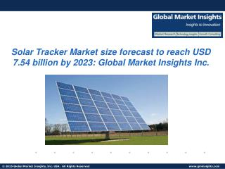Solar Tracker Market size forecast to reach USD 7.54 billion by 2023, with growth expectation of 12% CAGR from 2016 to 2