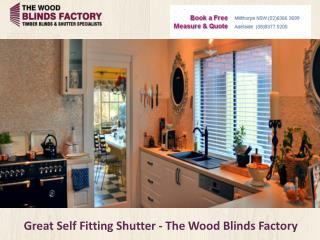Great Self Fitting Shutter - The Wood Blinds Factory