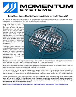 Is An Open Source Quality Management Software Really Worth It?