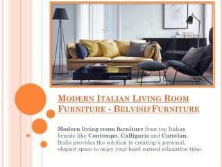 Modern Italian Living Room Furniture - Belvisifurniture