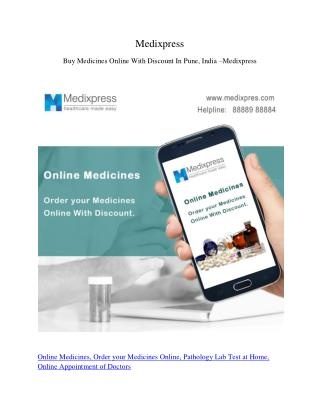 Buy Medicines Online With Discount In Pune, India – Medixpress
