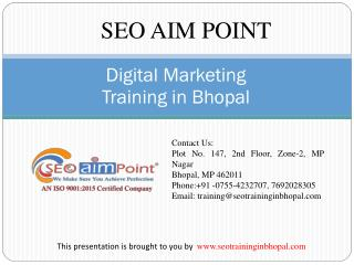 Digital Marketing Training in Bhopal