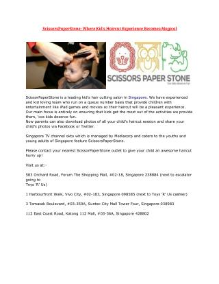 ScissorsPaperStone- Where Kid's Haircut Experience Becomes Magical