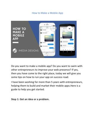 How to Make a Mobile App