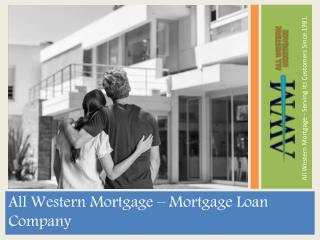 All Western Mortgage | Adjustable Rate Mortgage loan
