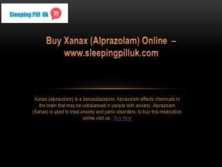 Buy Xanax(Alprazolam) Online