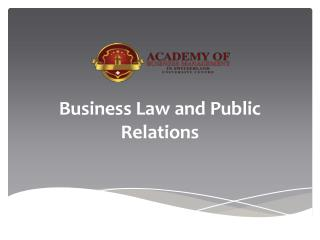 Business Law and Public Relations