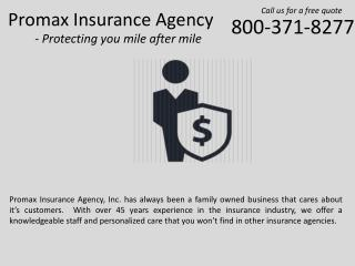 Promax Insurance Agency - Auto Insurance in California