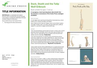Duck Death and the Tulip Wolf Erlbruch Gecko Press