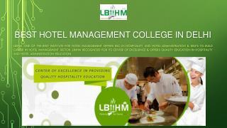 Top Hotel Management Institute in Delhi