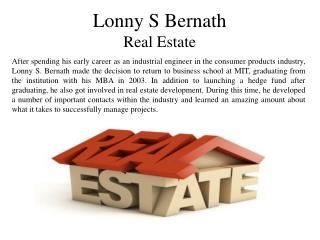 Lonny S Bernath Real Estate