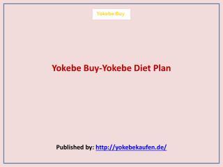 Yokebe Diet Plan