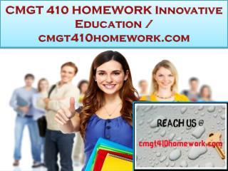CMGT 410 HOMEWORK Innovative Education / cmgt410homework.com