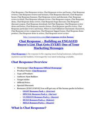 Chat Response Review-(FREE) $32,000 Bonus & Discount