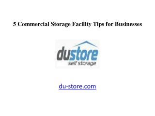 5 Dubai Commercial Storage Facility Tips for Businesses