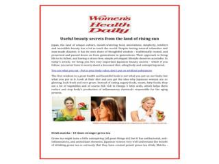 Get best advise & tips of Women's aging tricks, Women�s skincare, Women�s beauty, Women�s nutrition
