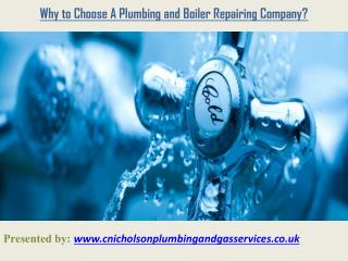 Why to Choose A Plumbing and Boiler Repairing Company?