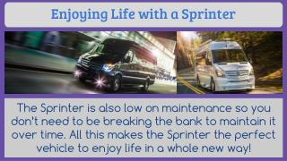 Enjoying Life with a Sprinter